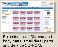 Palomino Inc. - Chrome and body parts, small detail parts and Service CD-ROM.